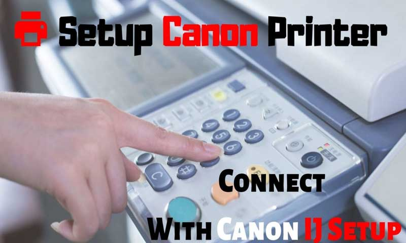 setup canon printer