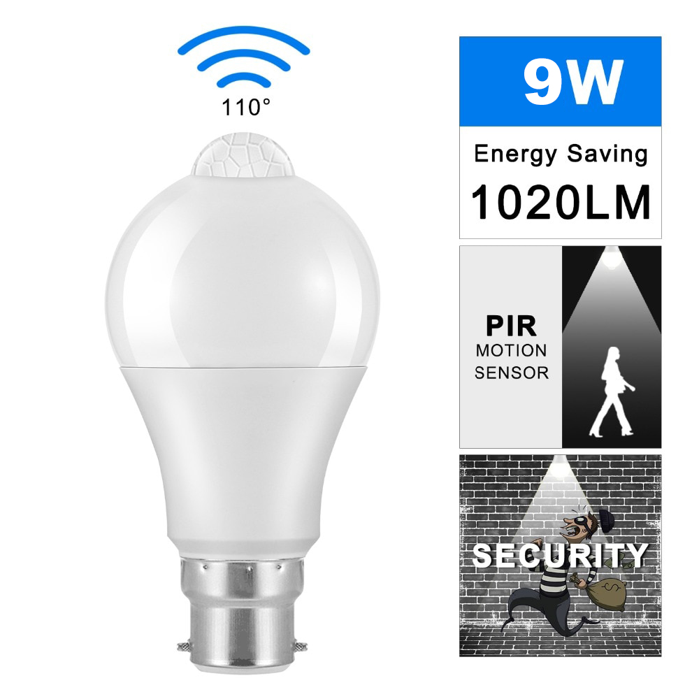 Amicivision 9W Built-in PIR Motion Sensor LED Bulb
